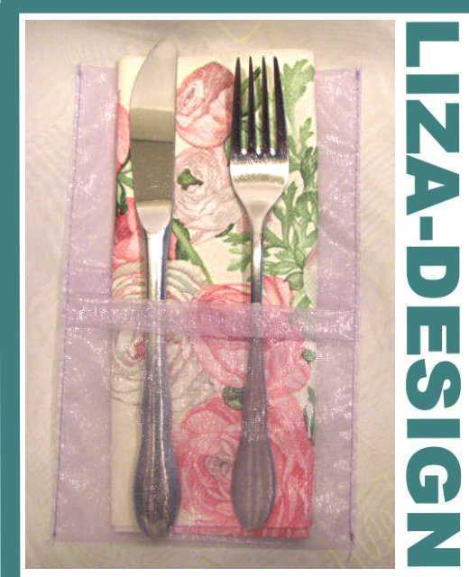 liza design tischband haarschmuck bastelartikel und floristik 10 bestecktaschen. Black Bedroom Furniture Sets. Home Design Ideas